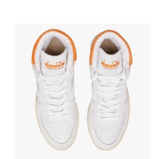 Diadora Heritage - Diadora mi basket used white orange C8453